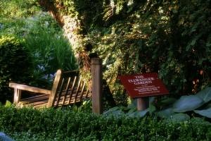 benching it at the Ellwanger Gardens